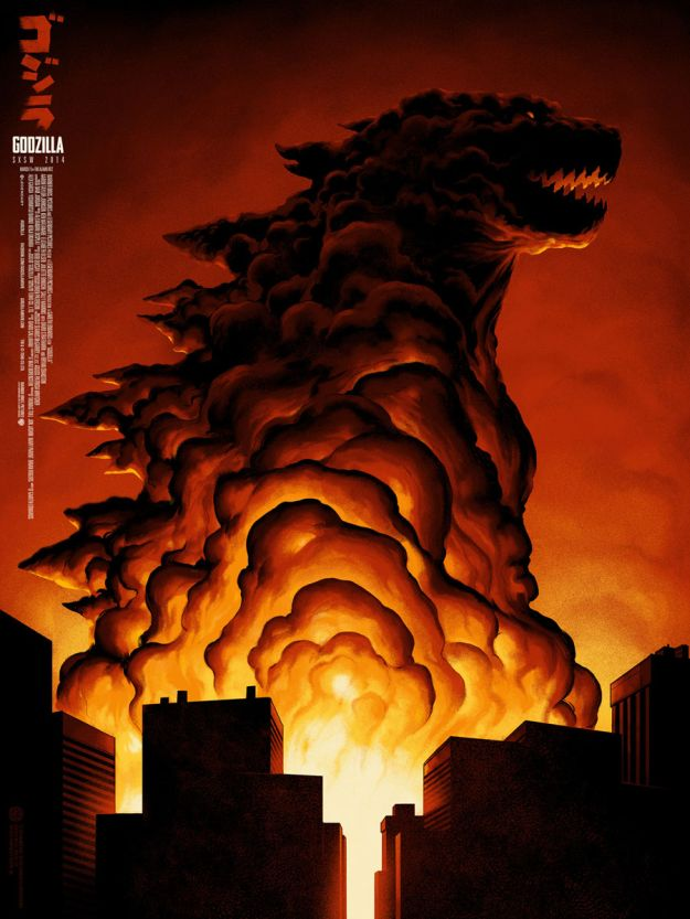 New poster for Godzilla by Mondo