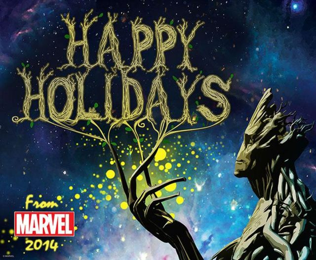 groot holiday card