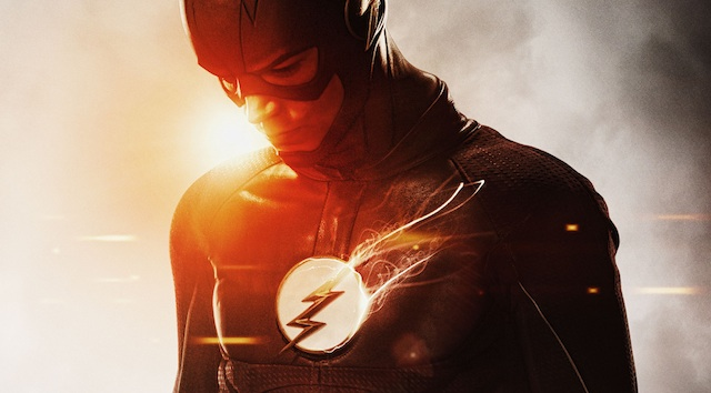The Flash costume will get a new design for season two and we've got a first look at The CW's teaser image of Grant Gustin's Barry Allen wearing it!