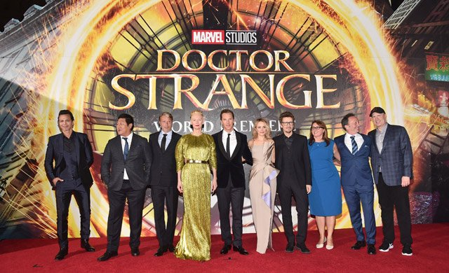 Doctor Strange Red Carpet Photos and Jimmy Kimmel Video