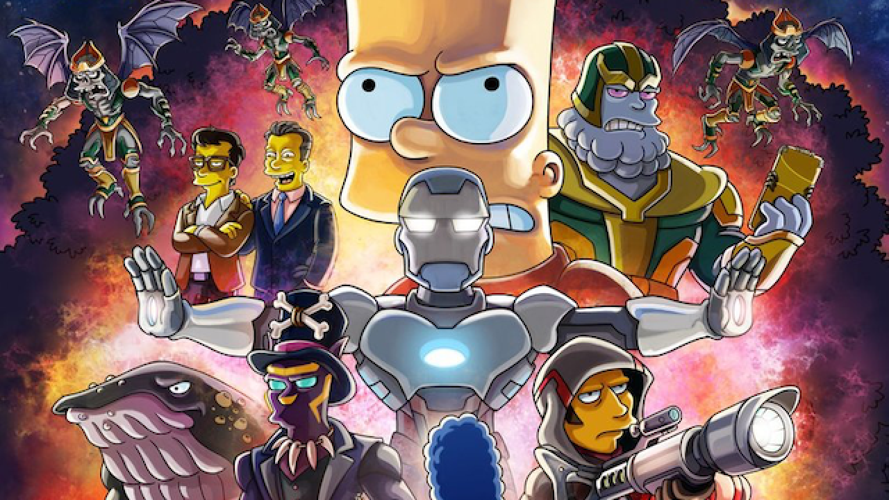 The Simpsons Release Poster And Details For Avengers Endgame Parody