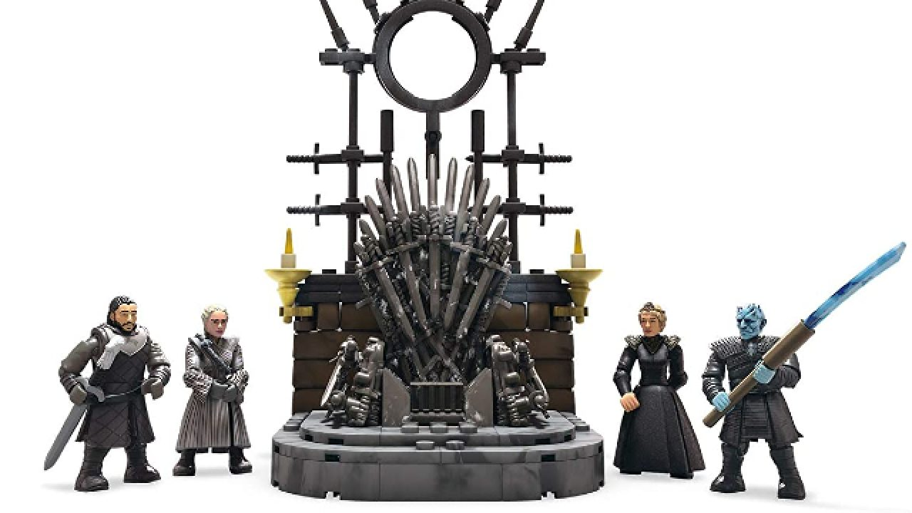 Mega Construx Game Of Thrones The Iron Throne Building Set Black Series In Hand!
