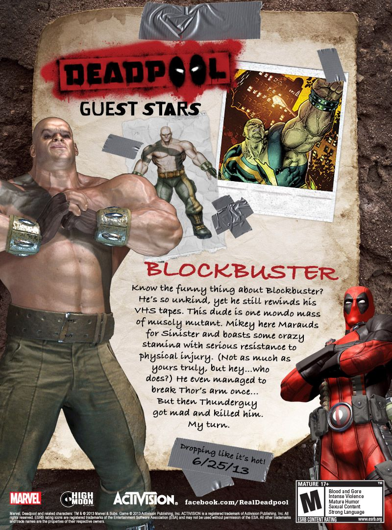 Deadpool Game Characters